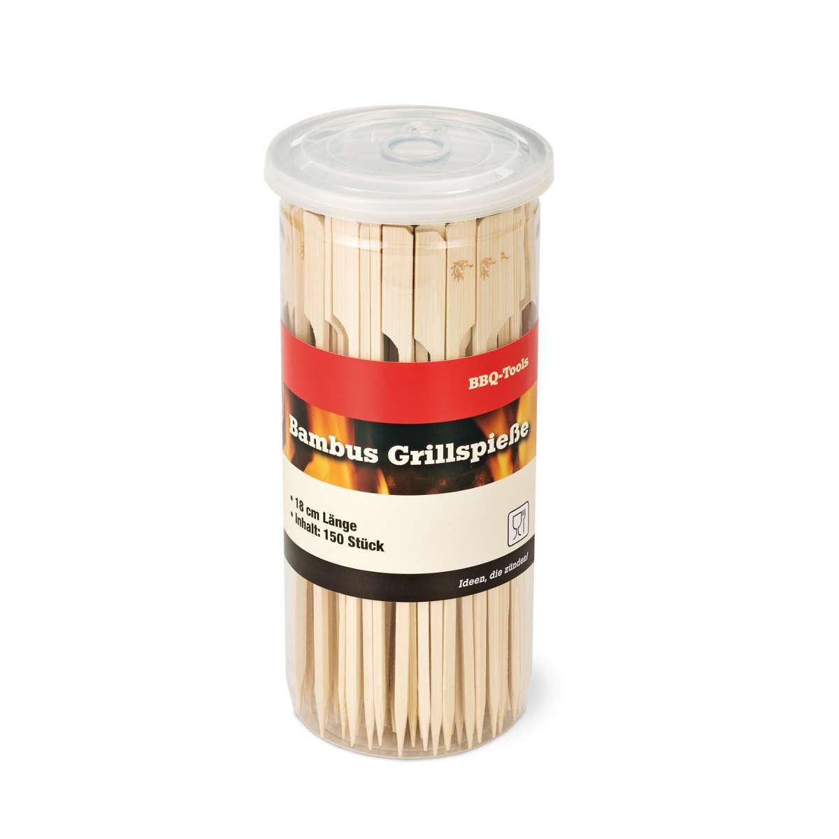 Grillspiesse-150-Stueck-18cm-Dose-im Glas