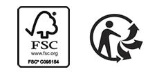 FSC und Triman Logo Boomex