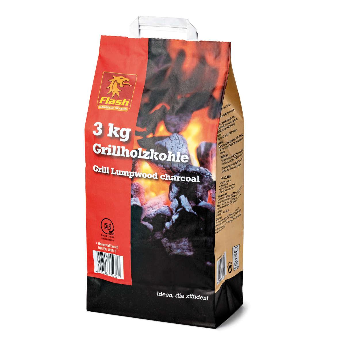 FLASH Grillholzkohle 3 kg FSC