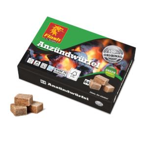 Anzündwürfel Holz und Wachs 64 Stück