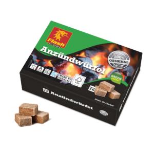 Anzündwürfel Holz und Wachs 72 Stück