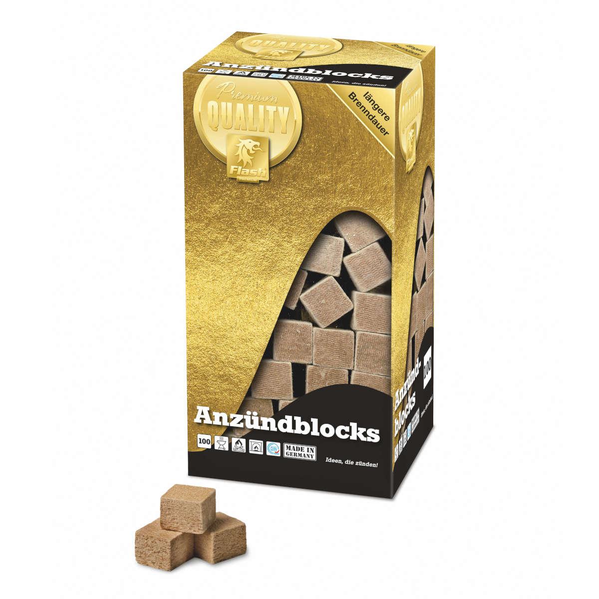 100 XXL Blocks - Holz und Wachs COMP