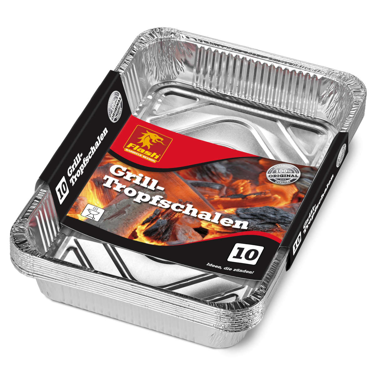 FLASH Grill-Alutropfschalen 10er