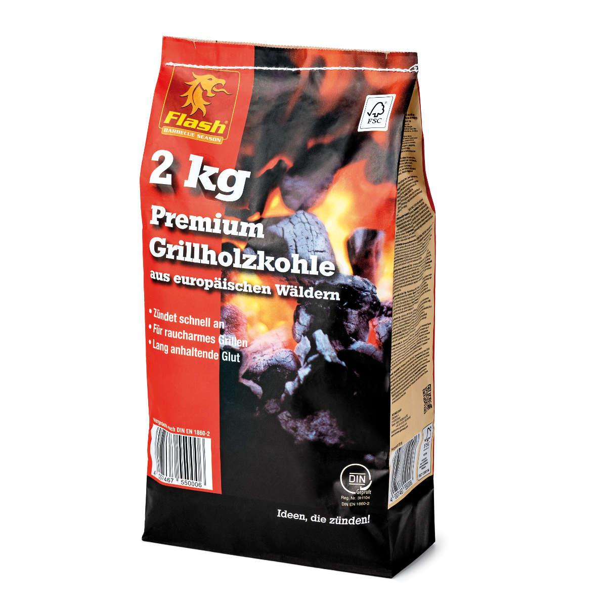 FLASH Grillholzkohle PREMIUM 2 kg FSC