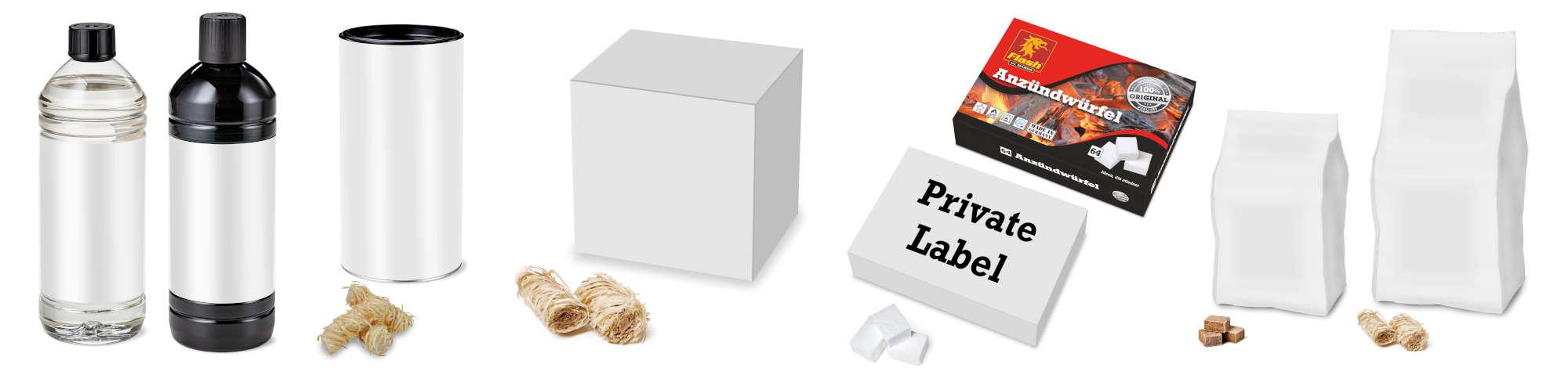 Private Label Beispiele von Verpackungen