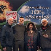 Progetto Fuoco - Messeteam beim Aufbau