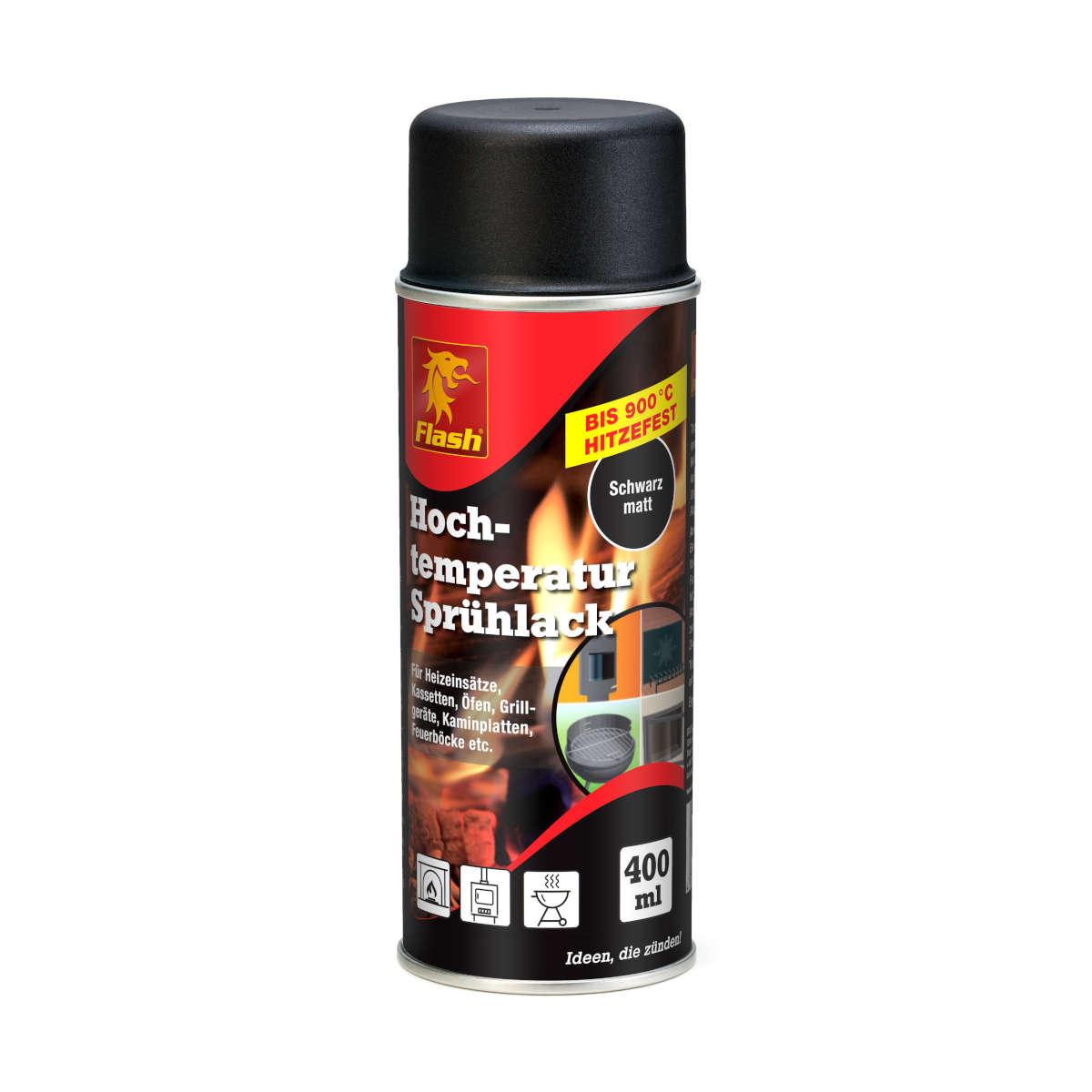 Kamin-Malerfarbe matt-schwarz 400 ml