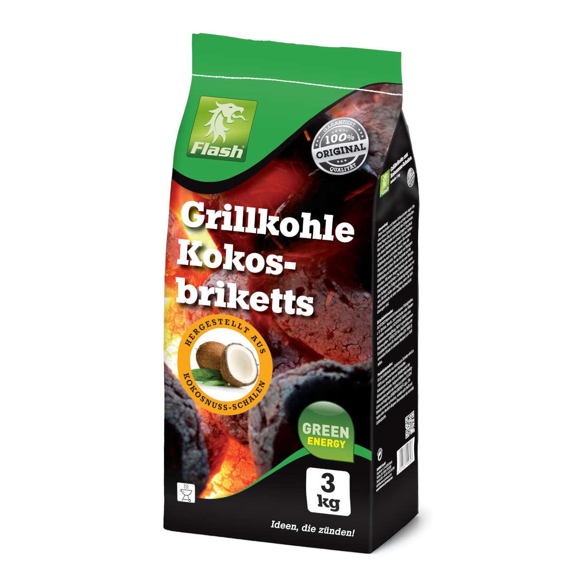 Grillkohle Kokosbrikett
