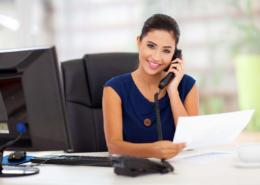 Büromitarbeiterin